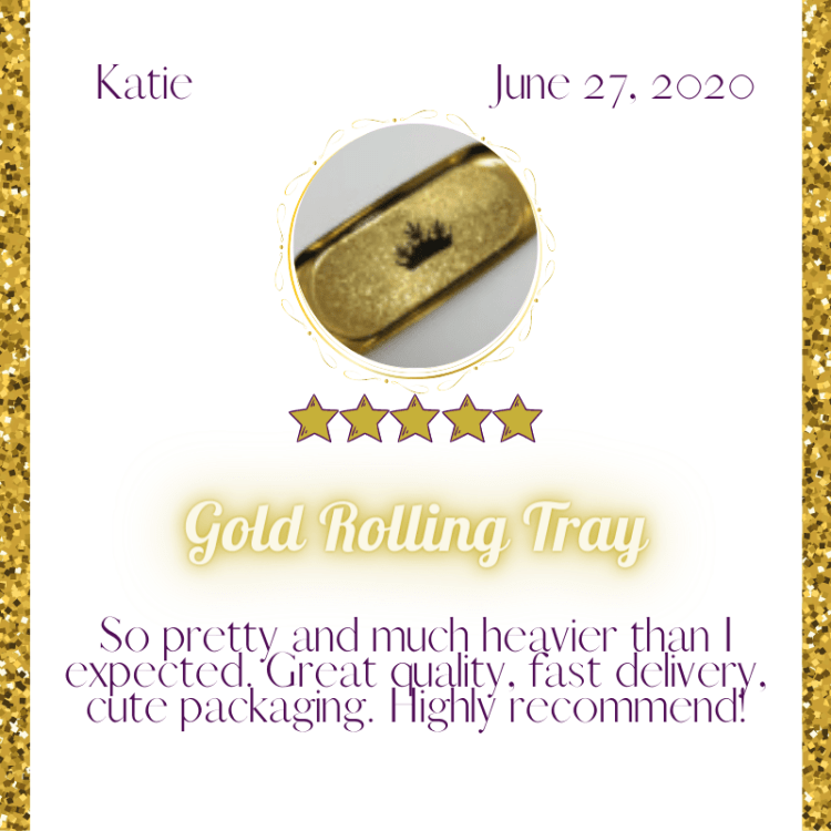 gold rolling tray review