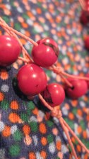 Cotton Jersey. Andean Collection. Acai Seed Necklace
