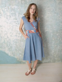 Gold Coast dress denim