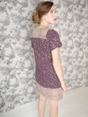Grant Park dress purple. back
