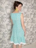 Oak Park dress Teal. back