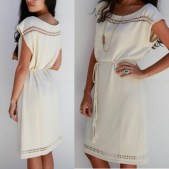 Goddis Kimi knit dress in Cream
