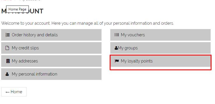 customer loyalty module