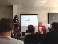 Tarek Müller erläutert die Vision von Collins.