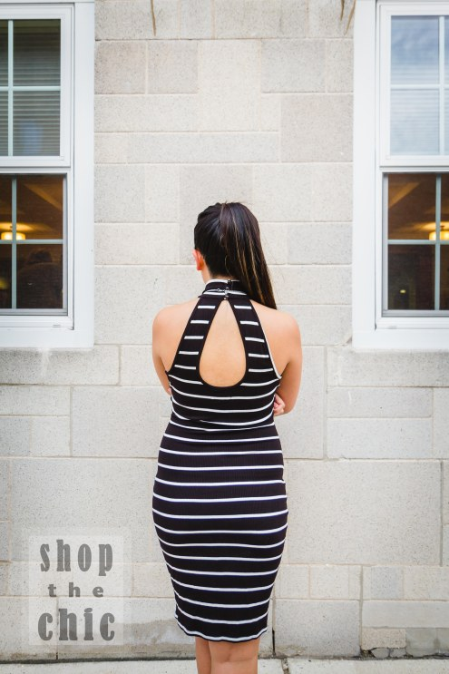 You'll see that with this dress, the loop in the back is smaller and more demure.