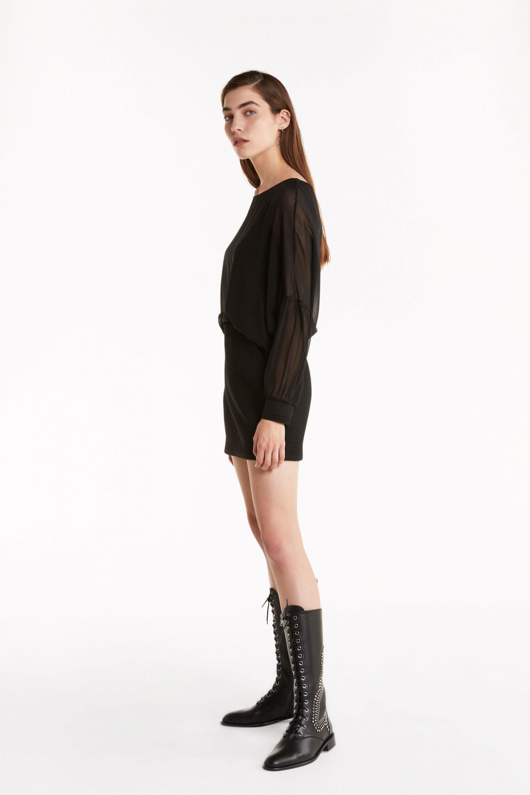 Abbigliamento Patrizia Pepe  Blusa in georgette  effetto doppio capo Black female collezione 2020 shop the look