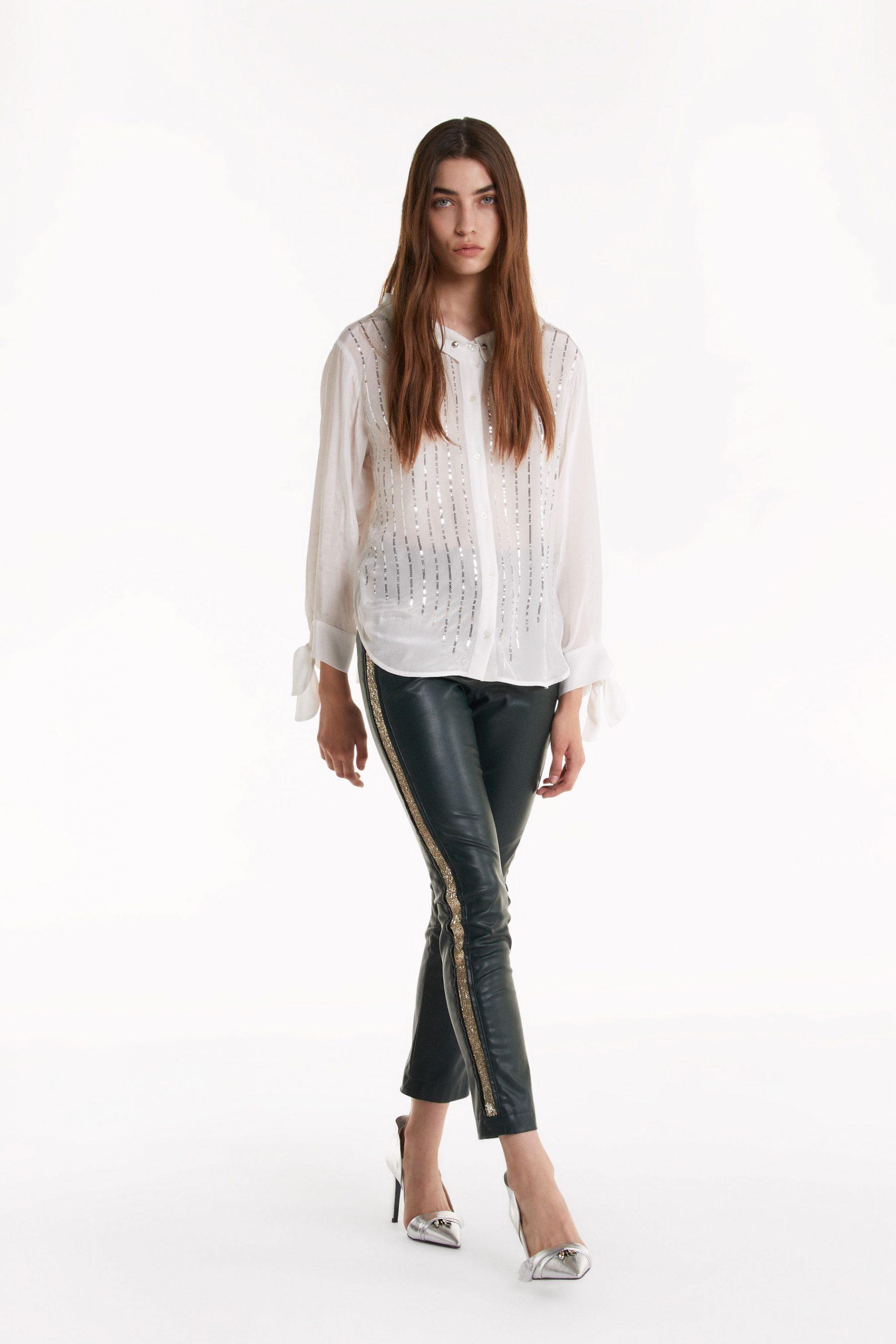Abbigliamento Patrizia Pepe  Camicia in georgette White female collezione 2020 shop the look
