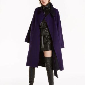 Abbigliamento Patrizia Pepe  Cappotto reversibile in panno di lana Dark Violet & Blue female collezione 2020 shop the look