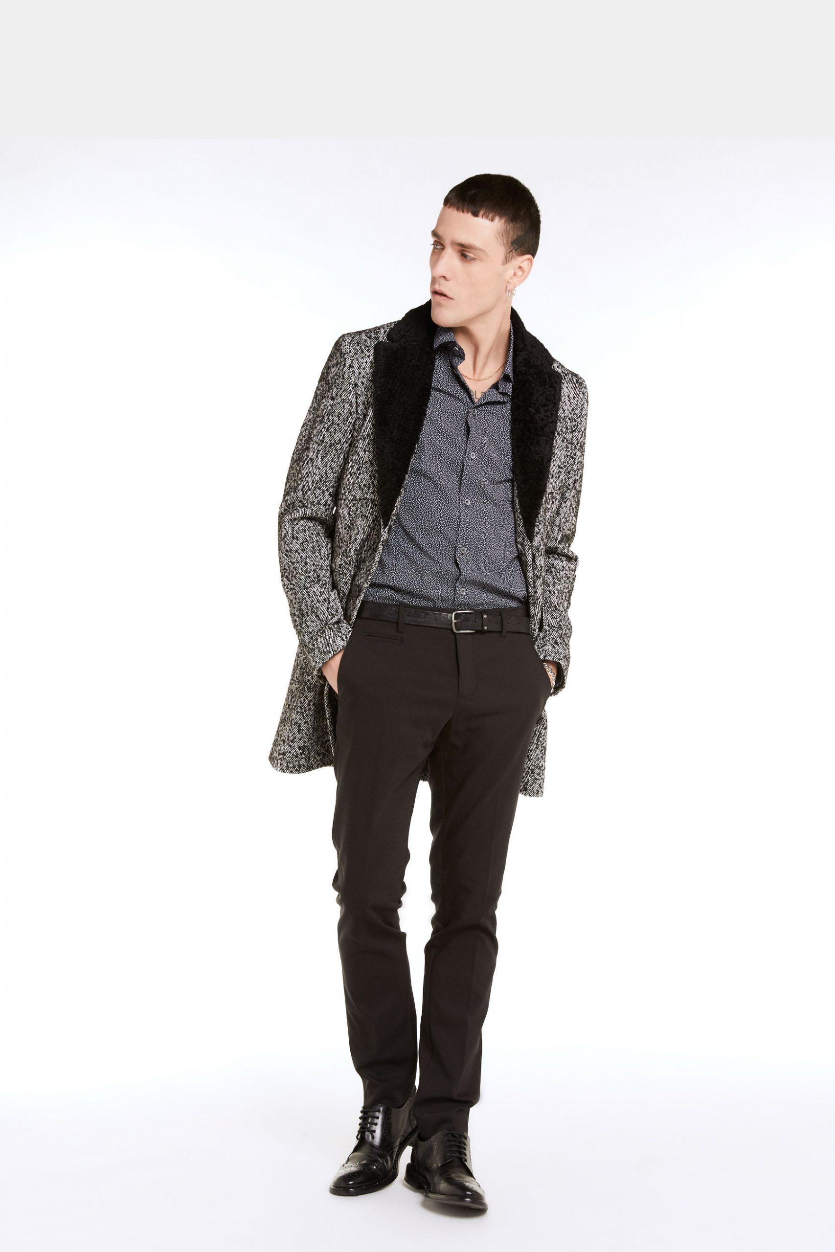 Abbigliamento Patrizia Pepe  Cappotto Resca Optical male collezione 2020 shop the look