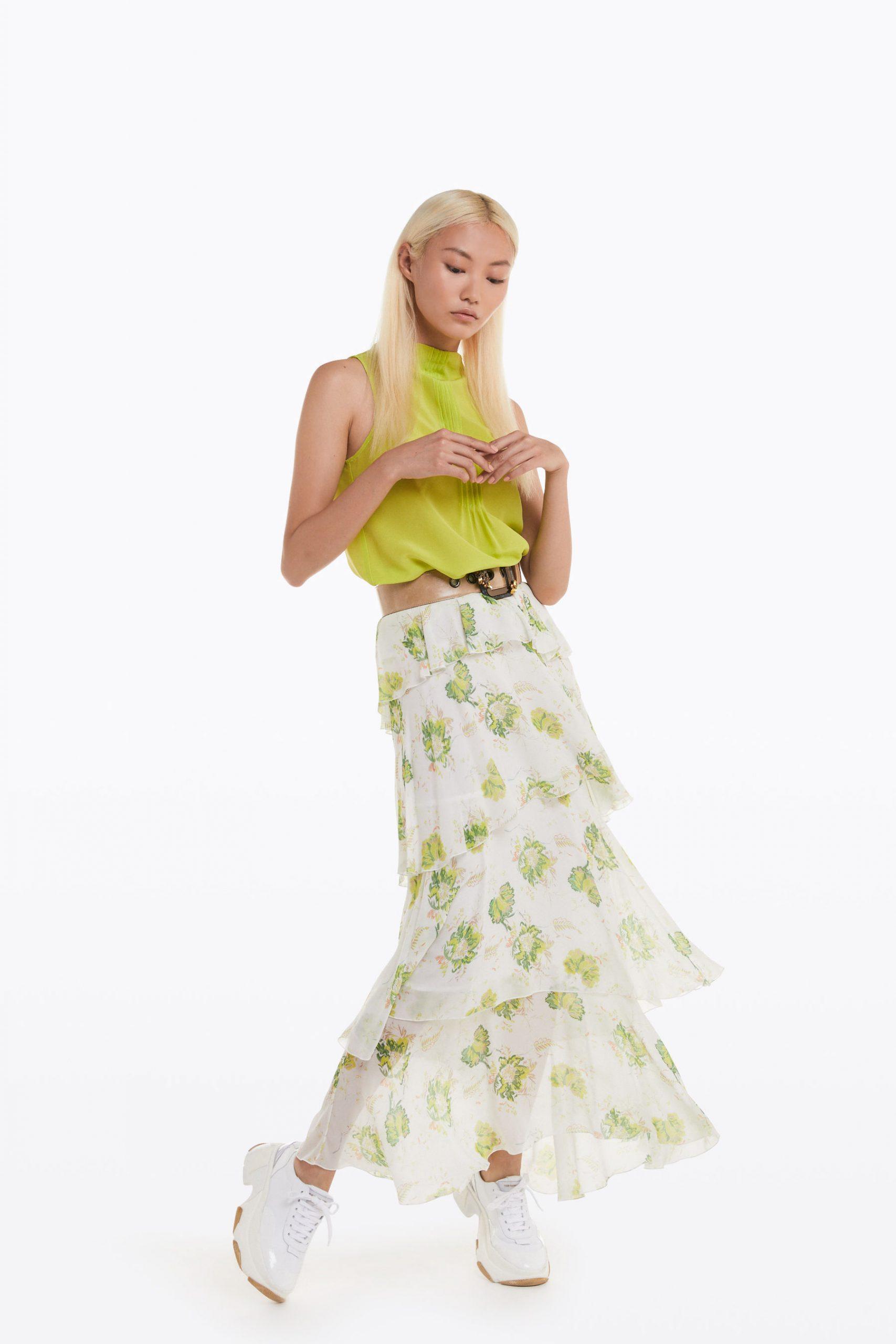 Abbigliamento Patrizia Pepe  Top in Seta Brave Yellow female collezione 2020 shop the look