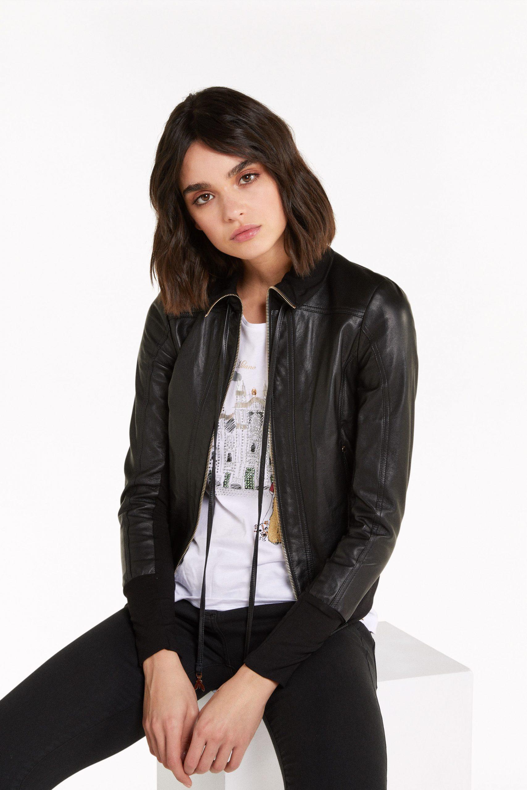 Abbigliamento Patrizia Pepe  Giubbotto in nappa d'agnello Black female collezione 2020 shop the look