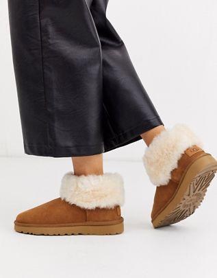 Ugg stivaletti bassi con pelliccia color nocciola scarpe di moda 2020 scarpe di tendenza