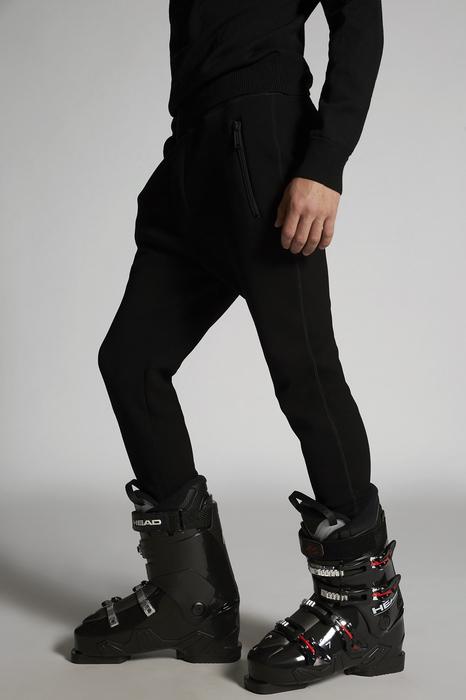 DSQUARED2 Uomo Pantalone Nero Taglia 3XL 95% Viscosa 5% Elastan