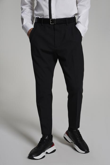 DSQUARED2 Uomo Pantalone Nero Taglia 54 95% Lana Vergine 5% Elastan