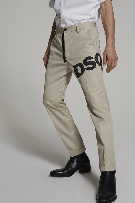 DSQUARED2 Uomo Pantalone Beige Taglia 42 100% Cotone