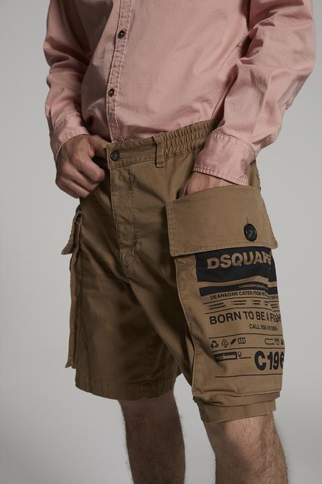 DSQUARED2 Uomo Shorts Marrone Taglia 42 97% Cotone 3% Elastan
