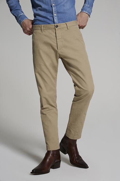 DSQUARED2 Uomo Pantalone Sabbia Taglia 42 100% Cotone