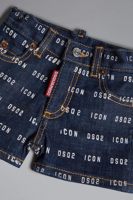 DSQUARED2 Uomo Shorts Blu Taglia 21-24 98% Cotone 2% Elastan