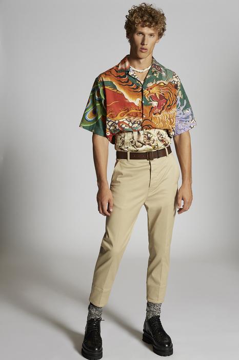 DSQUARED2 Uomo Pantalone Sabbia Taglia 42 97% Cotone 3% Elastan