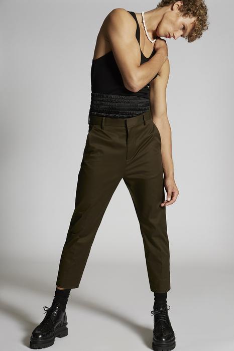 DSQUARED2 Uomo Pantalone Verde militare Taglia 56 97% Cotone 3% Elastan