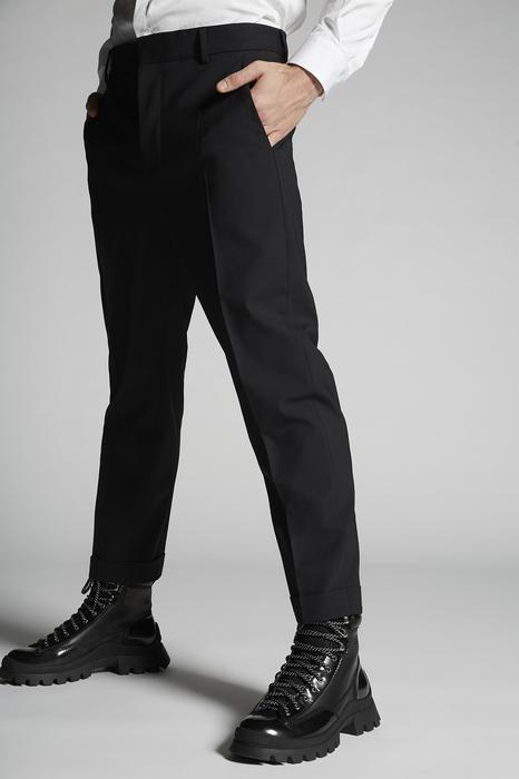 DSQUARED2 Uomo Pantalone Nero Taglia 42 95% Lana Vergine 5% Elastan