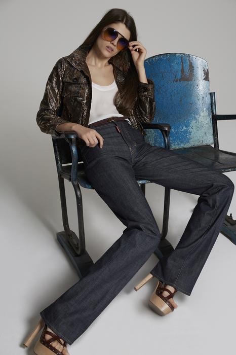 DSQUARED2 Donna 5 pockets Blu Taglia 34 98% Cotone 2% Elastan