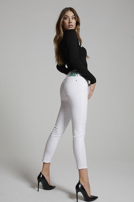 DSQUARED2 Donna 5 pockets Bianco Taglia 42 98% Cotone 2% Elastan