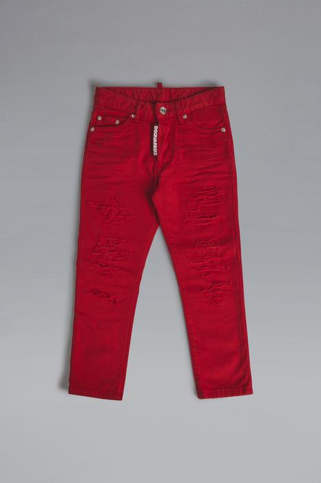 DSQUARED2 Unisex 5 pockets Rosso Taglia 16 98% Cotone 2% Elastan