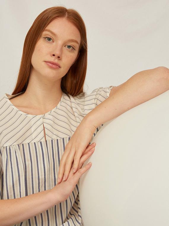 Caractere Abbigliamento > Camicie e bluse Bianco - Caractère Blusa boxy in cotone Donna Bianco