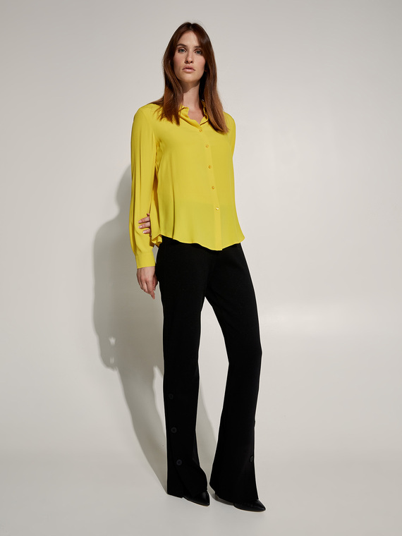 Caractere New season preview Giallo - Caractère Camicia misto seta Donna Giallo