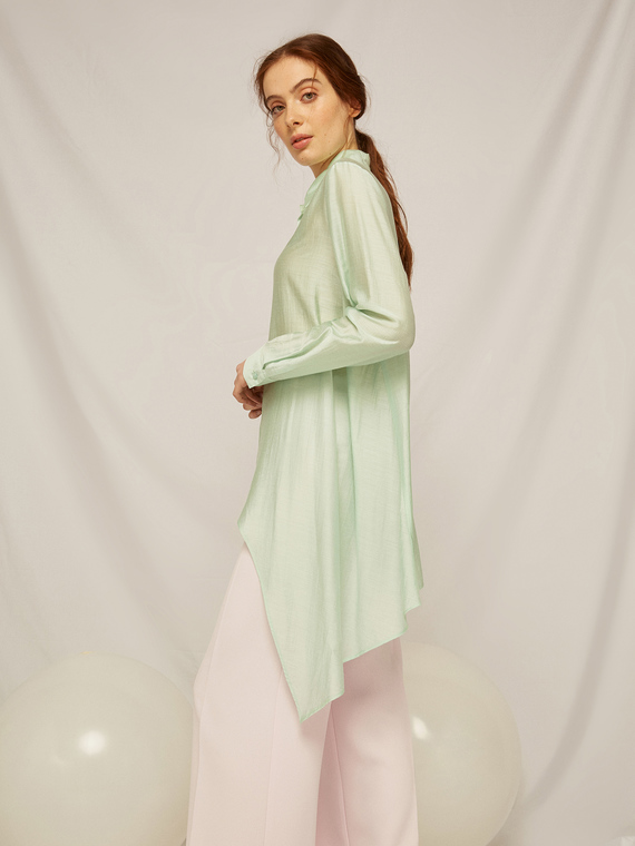 Caractere Abbigliamento > Camicie e bluse Verde - Caractère Camicia asimmetrica Donna Verde