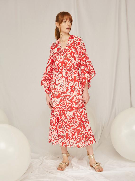 Caractere Abbigliamento > Abiti Rosso - Caractère Abito lungo stampato Donna Rosso
