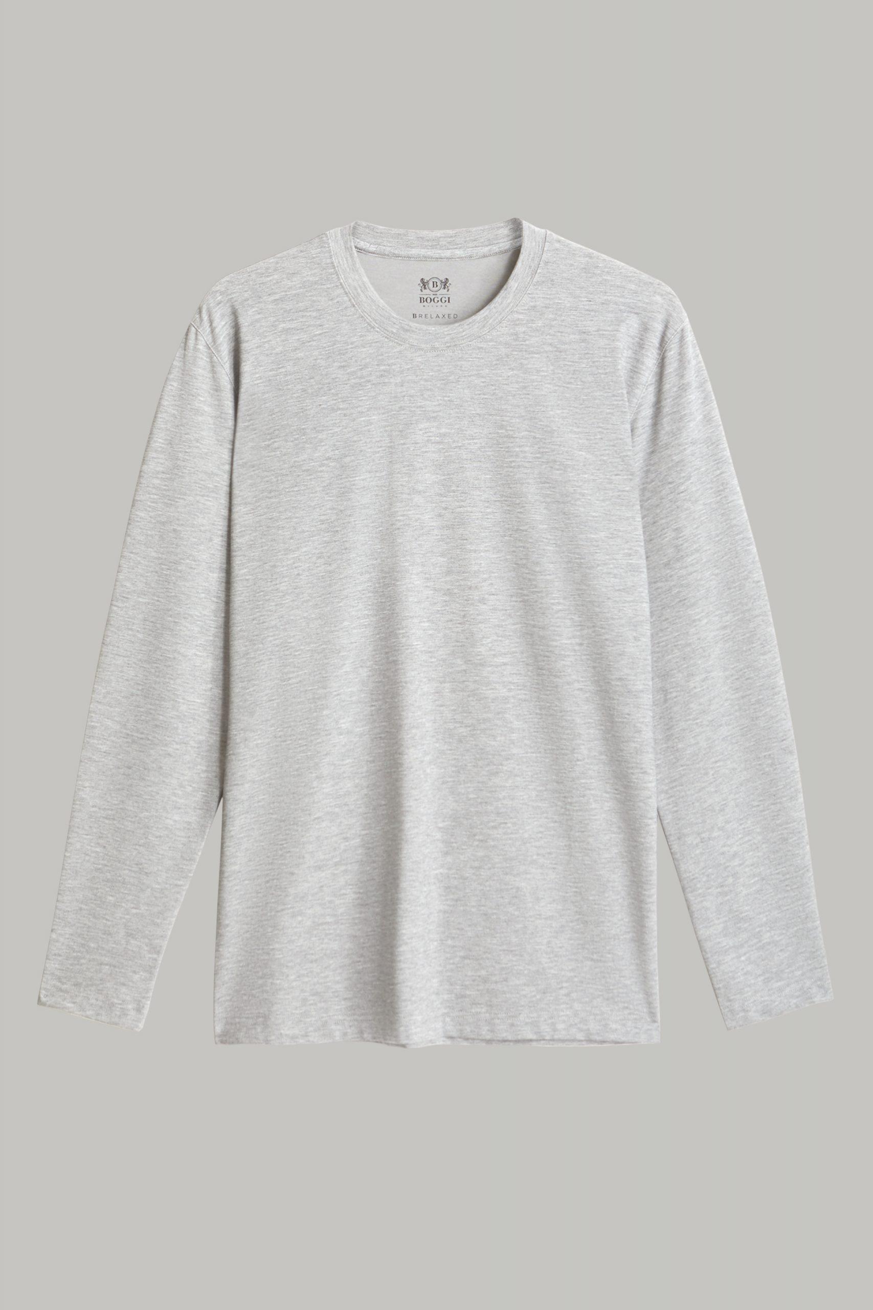 T-Shirts da uomo in colore Grigio chiaro in materiale