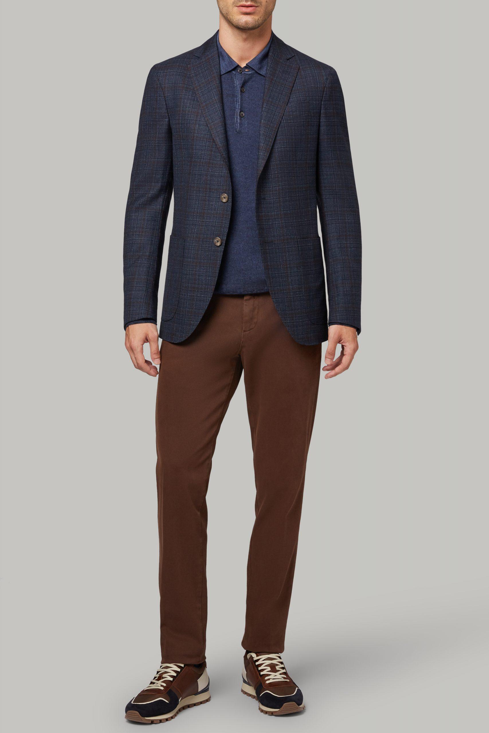 Blazers da uomo in colore Blu Marrone in materiale
