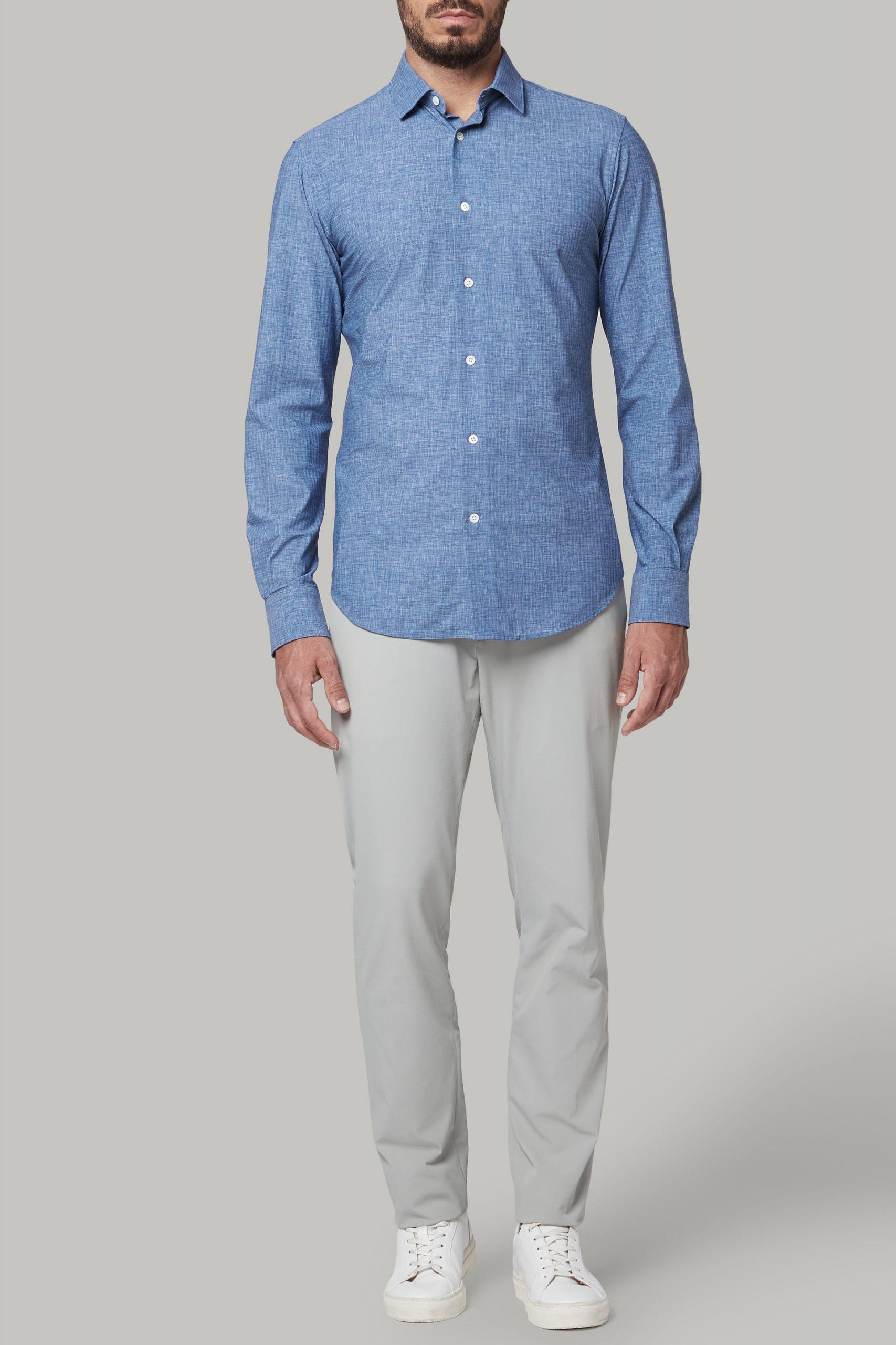 Camicie da uomo in colore Blu in materiale
