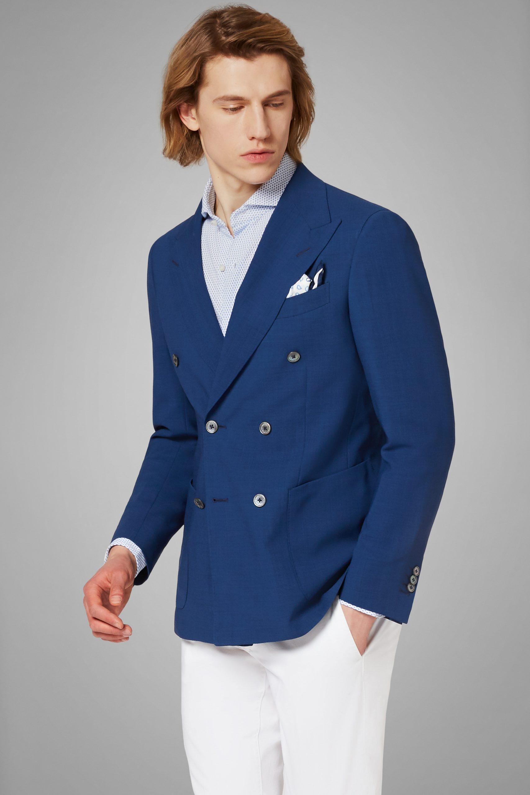 Blazers da uomo in colore Royal in materiale