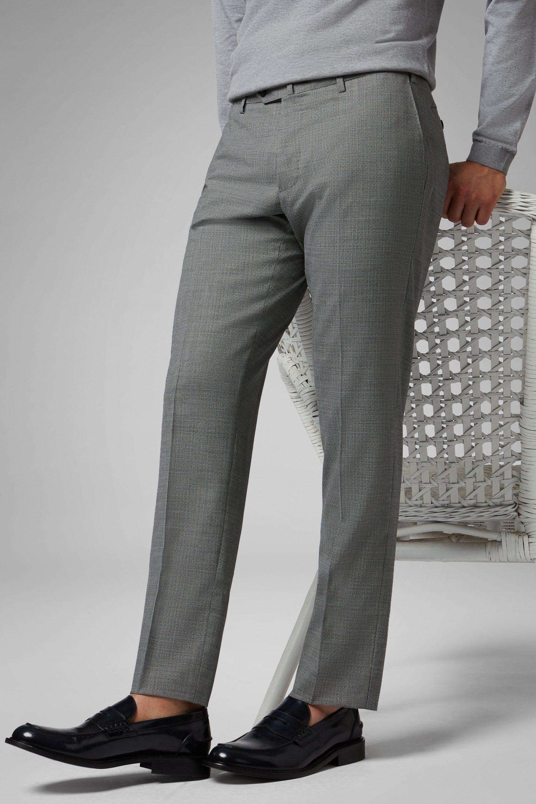 Pantaloni da uomo in colore Grigio Nero in materiale