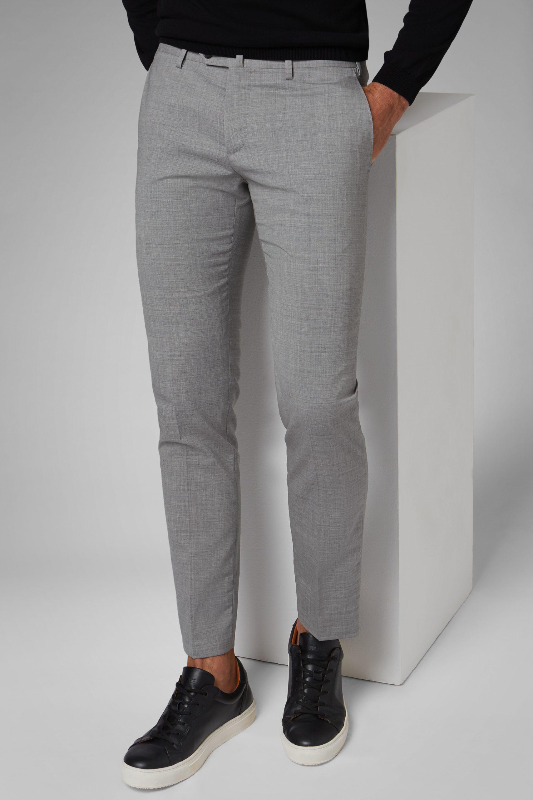 Pantaloni da uomo in colore Grigio chiaro in materiale