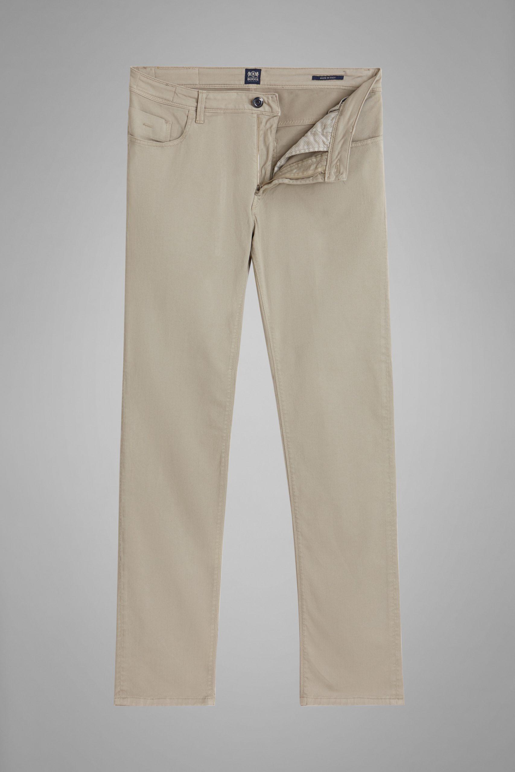 Pantaloni da uomo in colore Beige in materiale