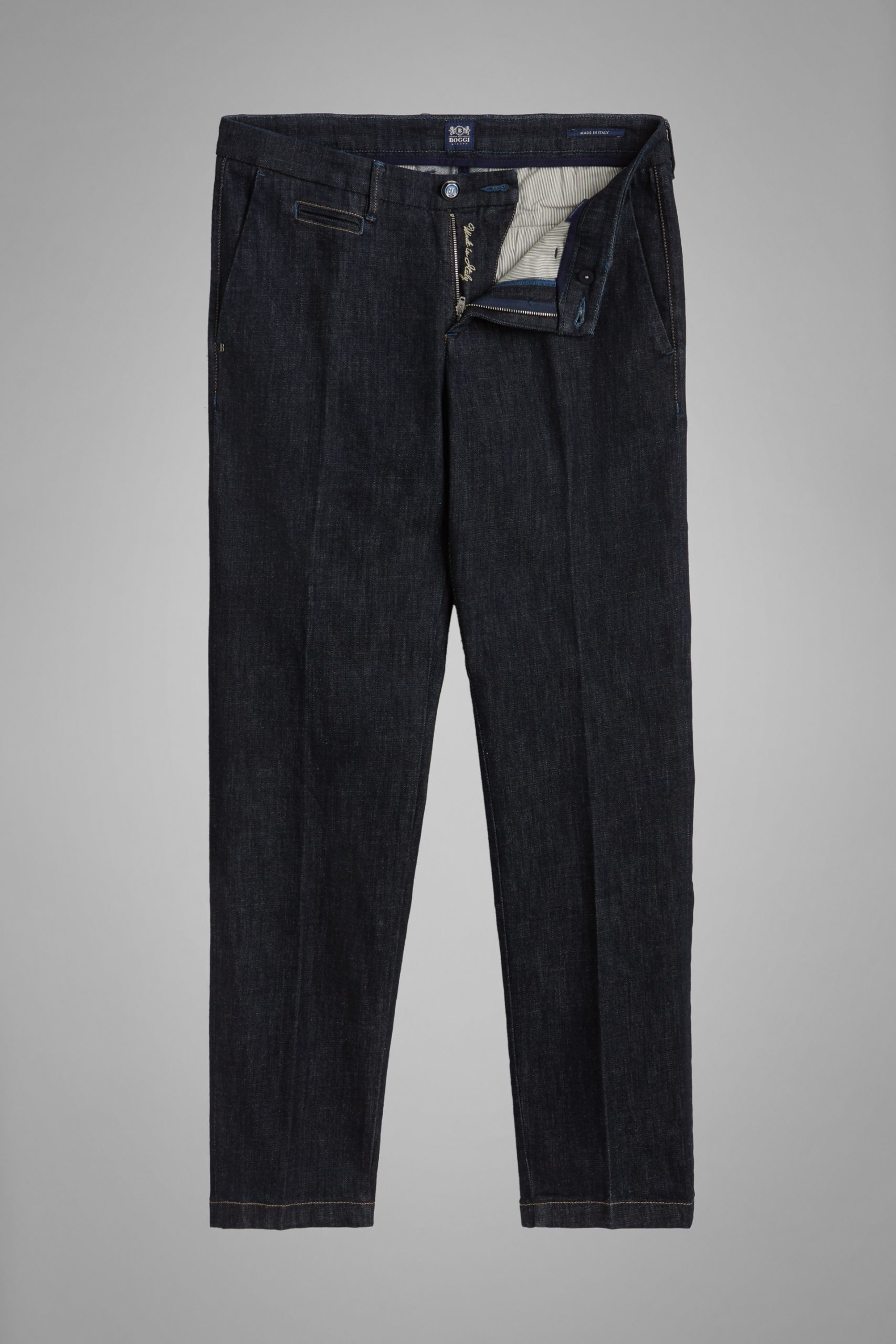 Pantaloni da uomo in colore Denim in materiale
