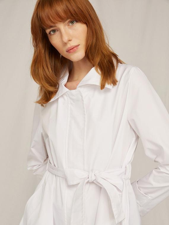 Caractere Cappotti e giacche > Cappotti e giubbotti Bianco - Caractère Trench con cintura Donna Bianco