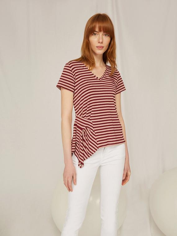 Caractere Abbigliamento > Top e t-shirt Rosa - Caractère T-shirt a righe lurex Donna Rosa
