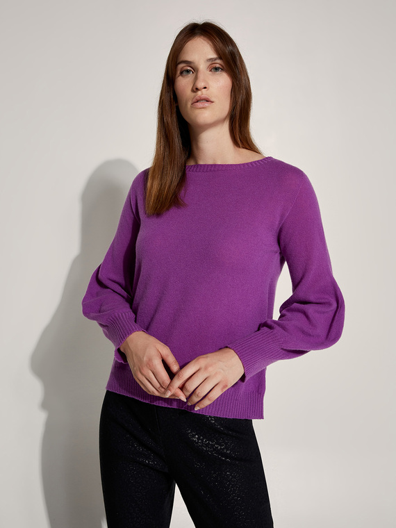 Caractere New season preview Viola - Caractère Maglia in misto cashmere Donna Viola