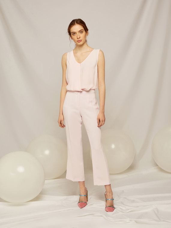 Caractere Abbigliamento > Pantaloni e jeans Rosa - Caractère Pantaloni in tessuto fluido Donna Rosa