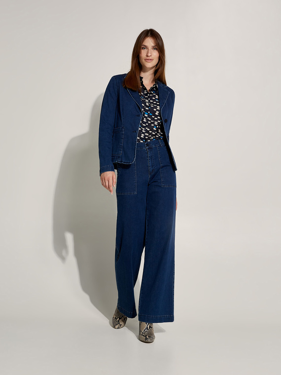 Caractere New season preview Blu - Caractère Jeans palazzo con tasche Donna Blu