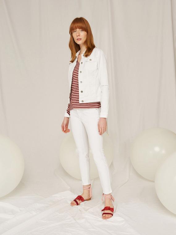 Caractere Abbigliamento > Pantaloni e jeans Bianco - Caractère Pantaloni skinny in denim color Donna Bianco