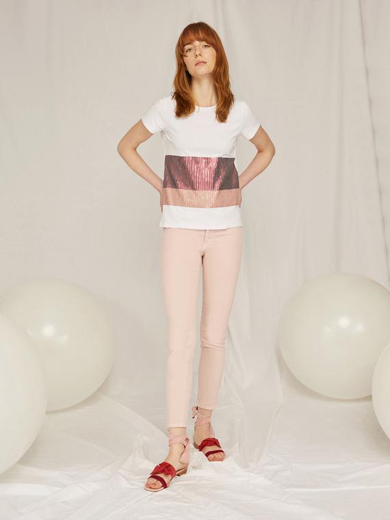 Caractere Abbigliamento > Pantaloni e jeans Rosa - Caractère Pantaloni skinny in denim color Donna Rosa