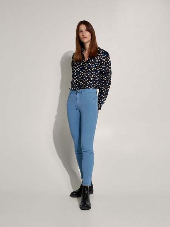 Caractere New season preview Blu - Caractère Pantaloni skinny tinto capo Donna Blu
