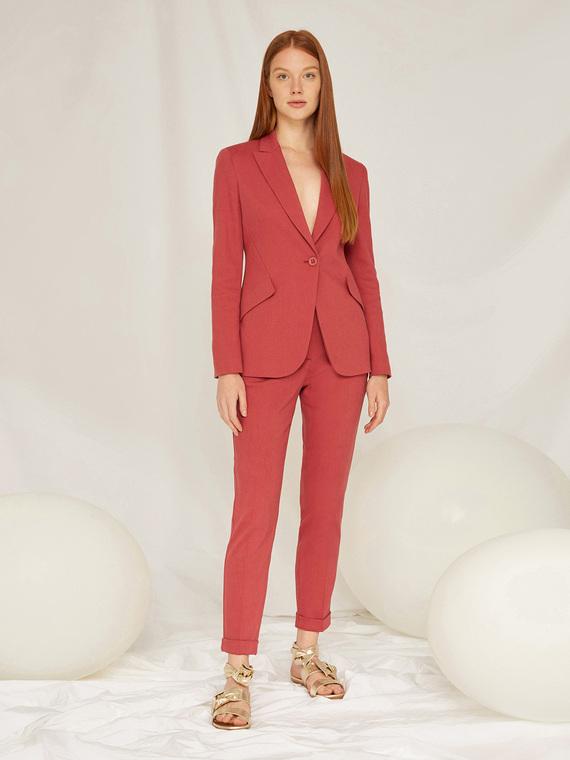Caractere Cappotti e giacche > Giacche e blazer Rosa - Caractère Giacca blazer in piquet Donna Rosa
