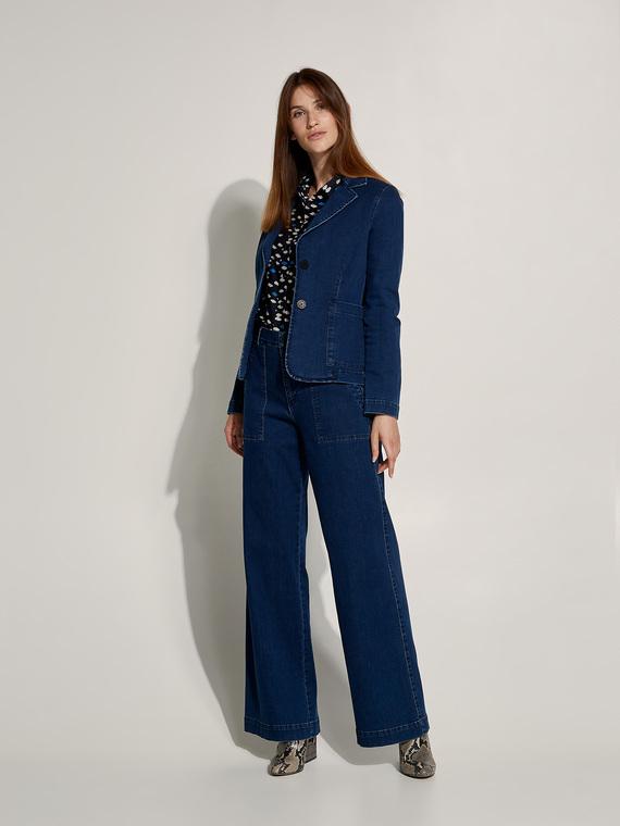 Caractere New season preview Blu - Caractère Giacca blazer in denim Donna Blu